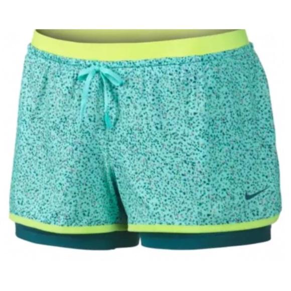 Nike Pants - NIKE Full Flex 2 in 1 Splatter Training Shorts